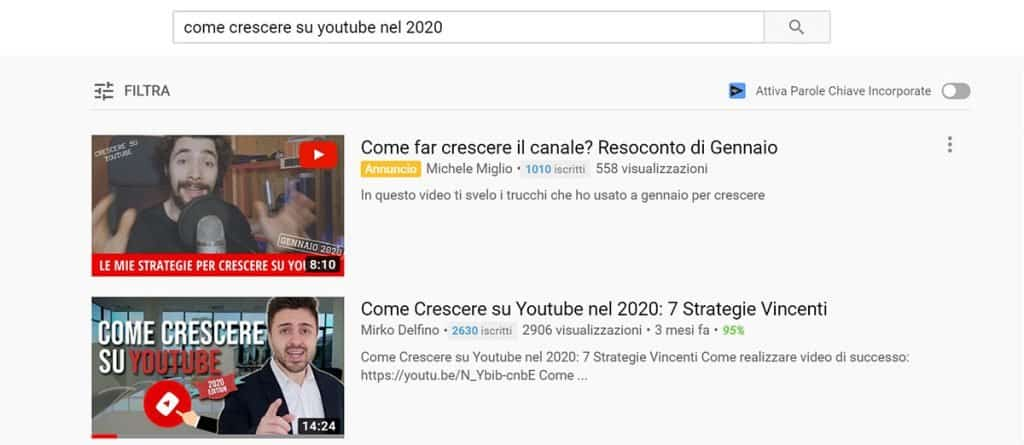 Titoli video Youtube