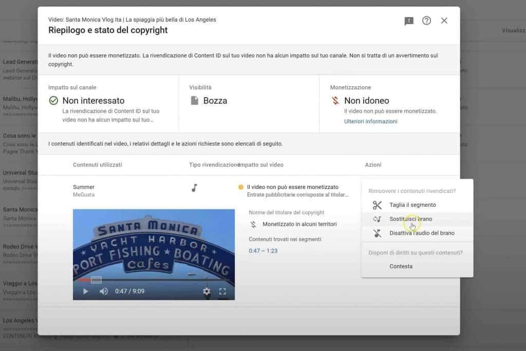 reclamo su youtube copyright